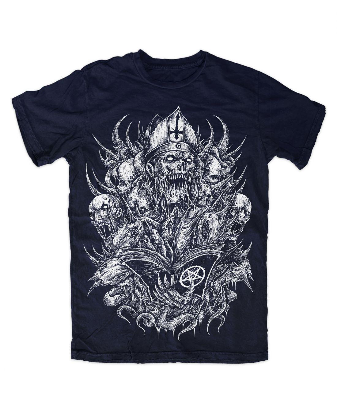 Curse (navy kék póló)