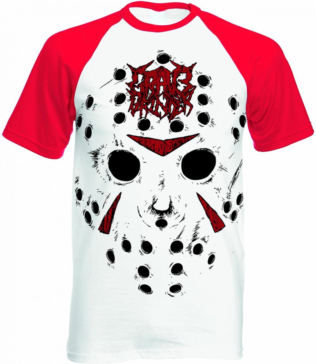 Slasher (piros-fehér raglan póló)