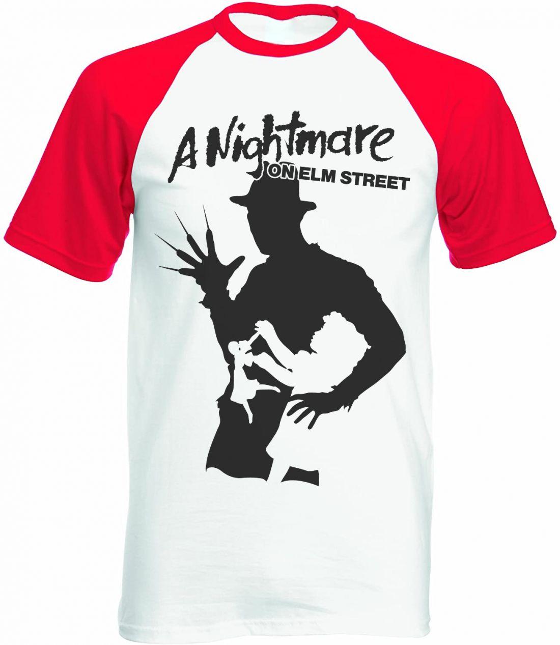 A Nightmare On Elm Street 001 (piros-fehér raglan póló)
