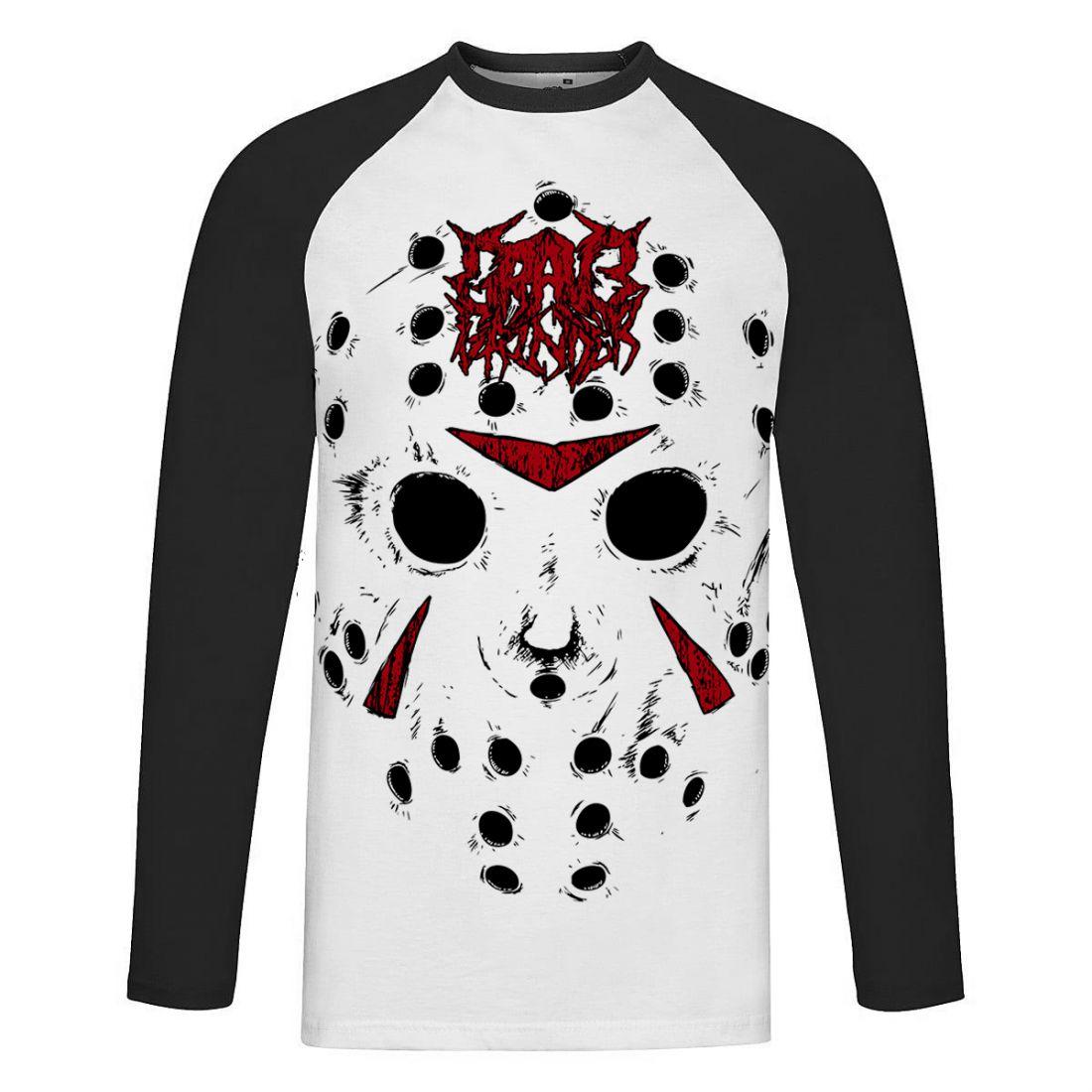 Slasher (fekete-fehér raglan hosszúujjú póló)