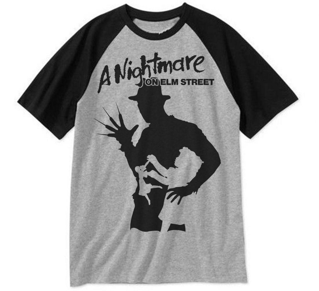 A Nightmare On Elm Street 001 (fekete-szürke raglan póló)