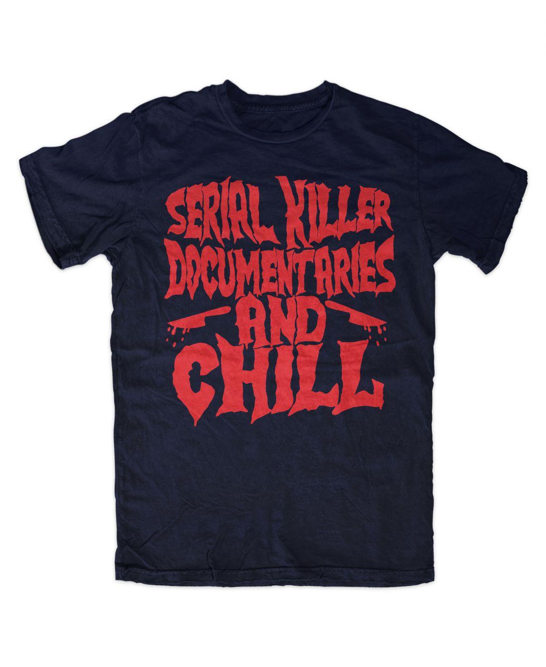 Serial Killer Documentaries (navy kék póló)