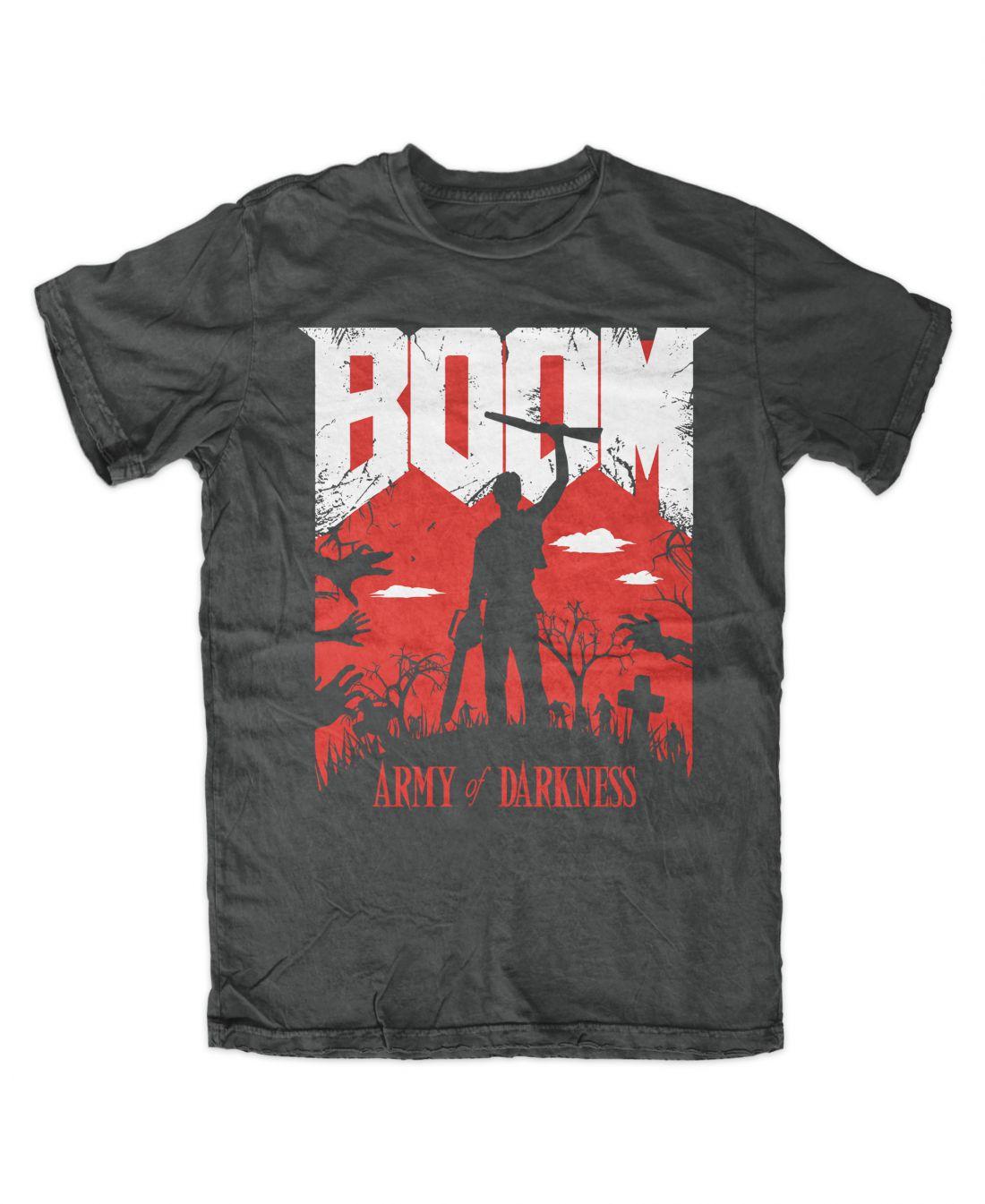 BOOM (charcoal póló)