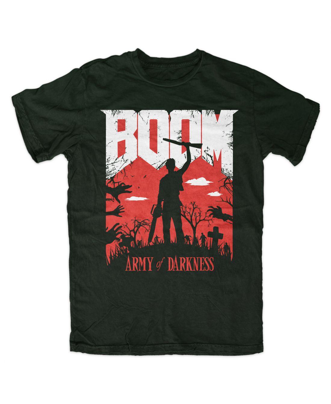 BOOM (forest green póló)