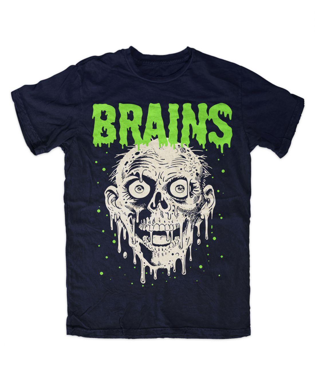 Brains (navy blue póló)