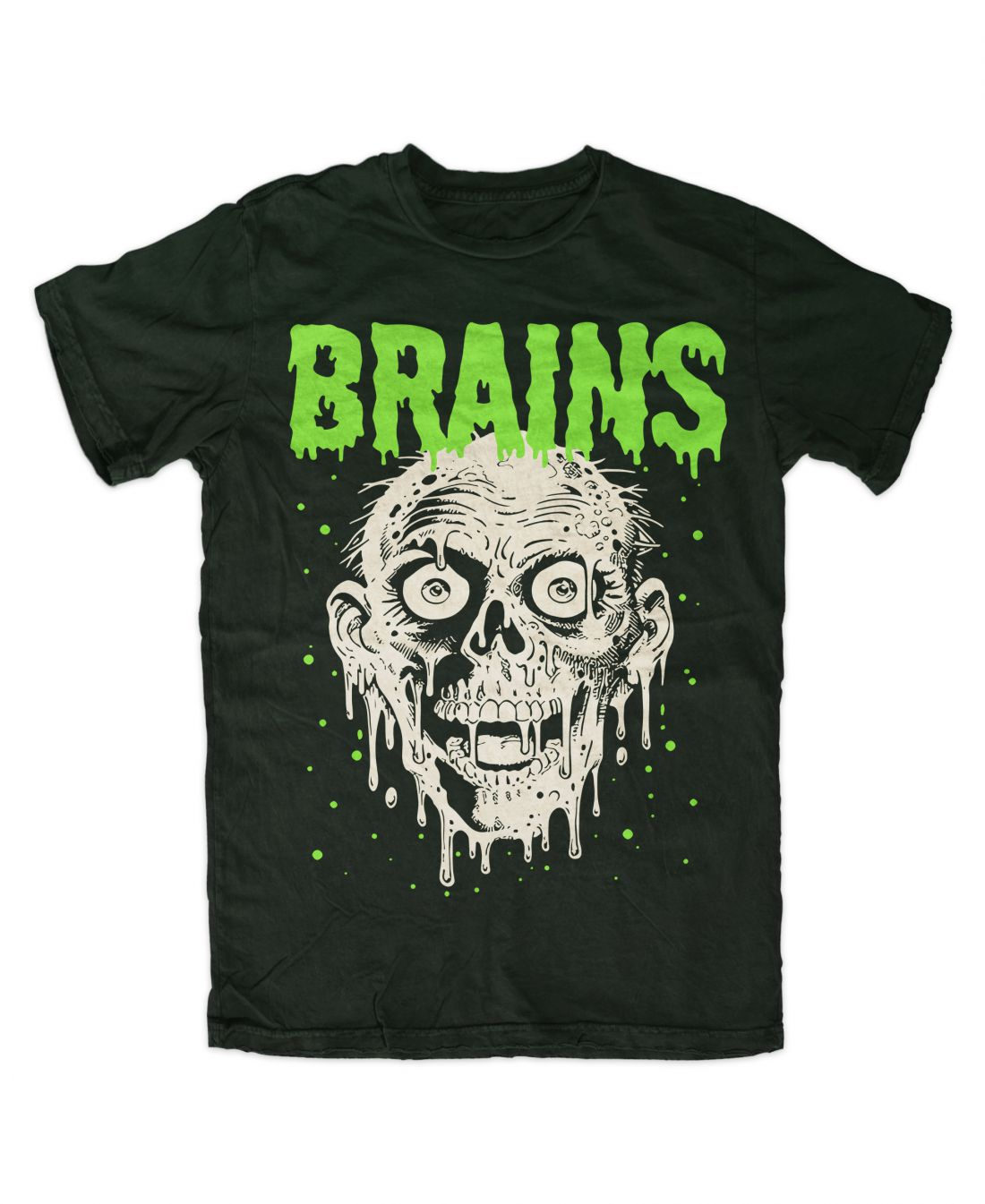 Brains (forest green póló)