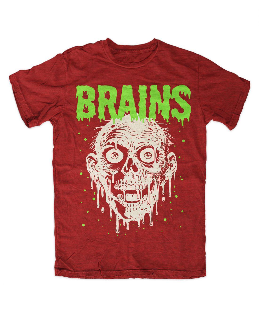 Brains (antique red póló)