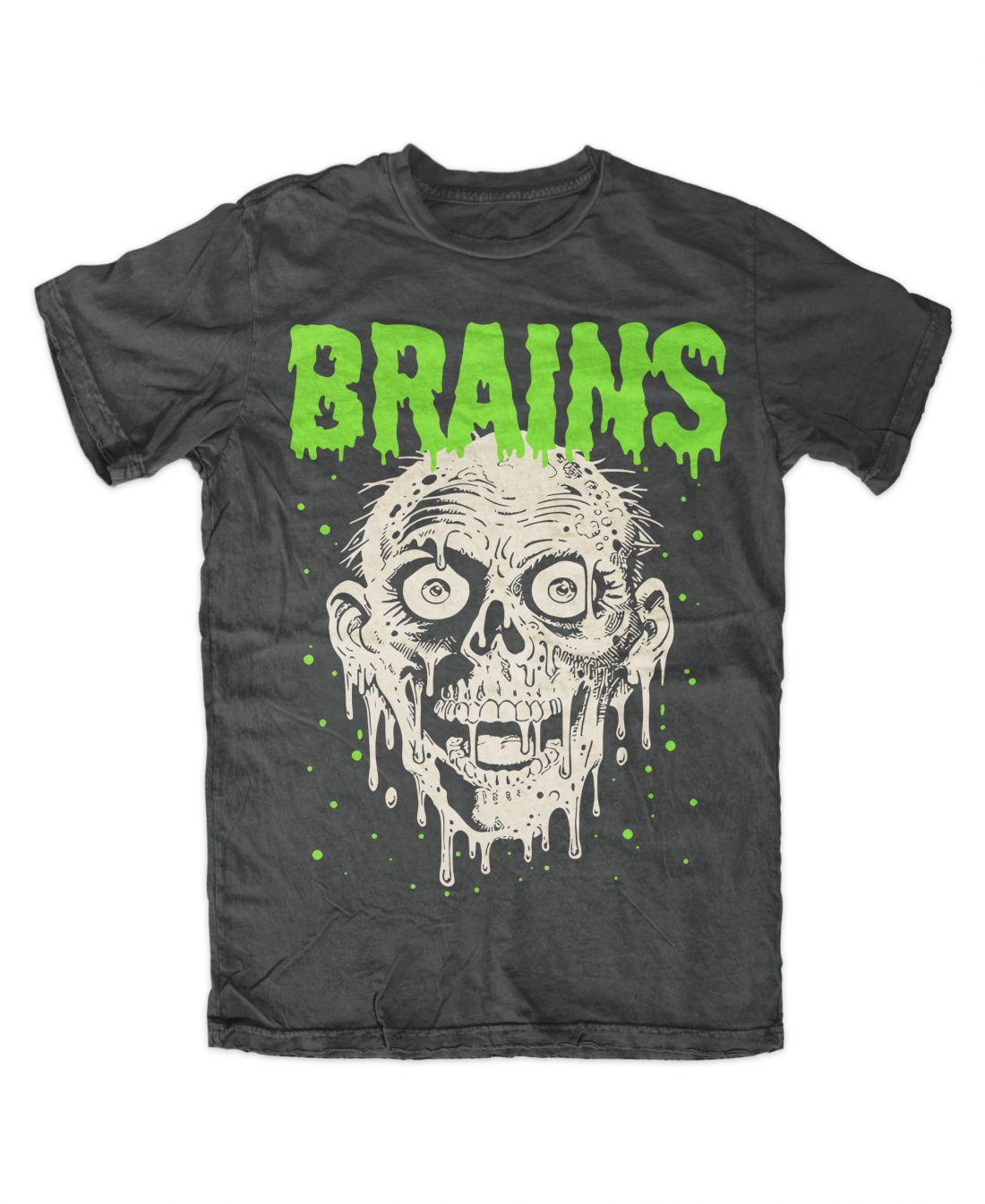 Brains (charcoal póló)