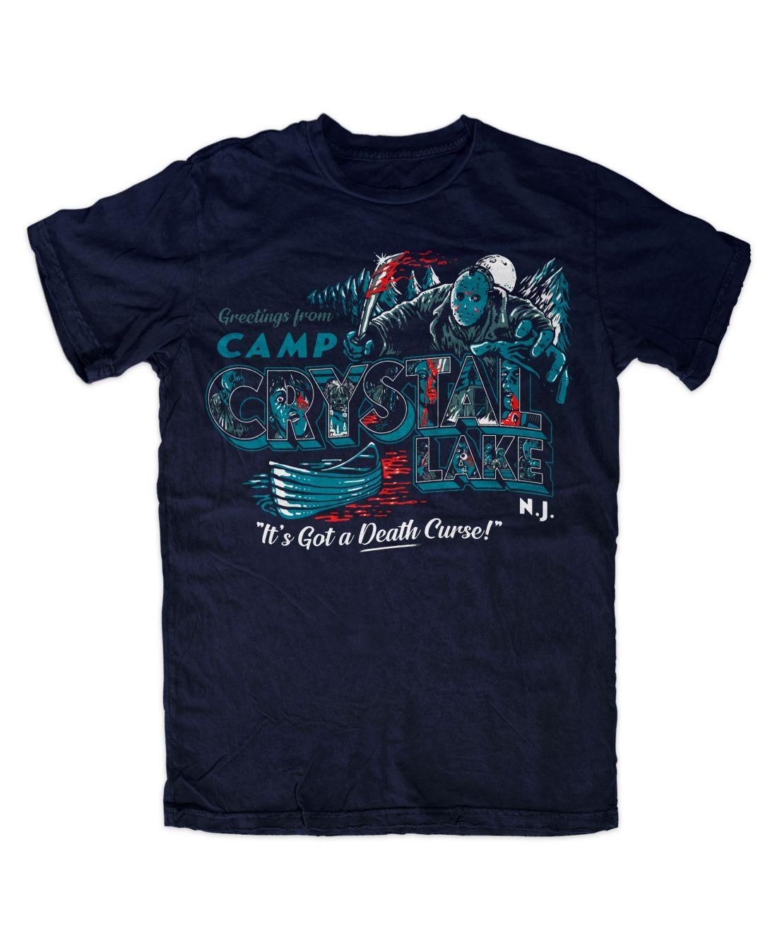 Greetings From Camp Crystal Lake (navy blue póló)