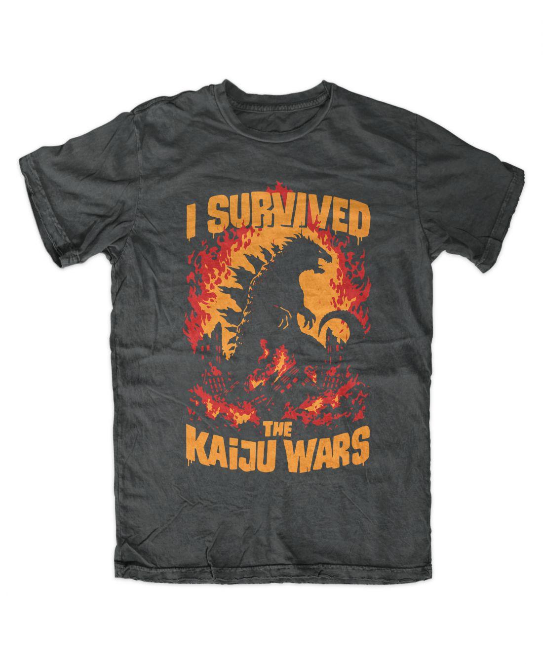 Kaiju Wars (charcoal póló)