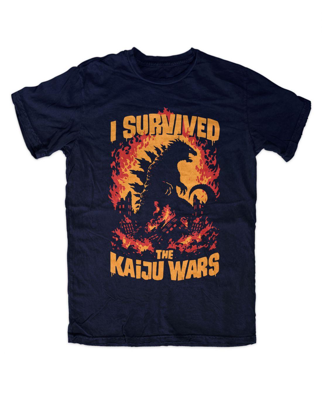 Kaiju Wars (navy blue póló)