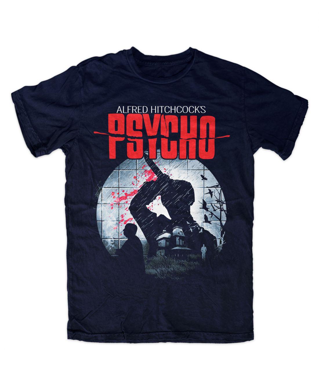 Psycho 001 (navy blue póló)