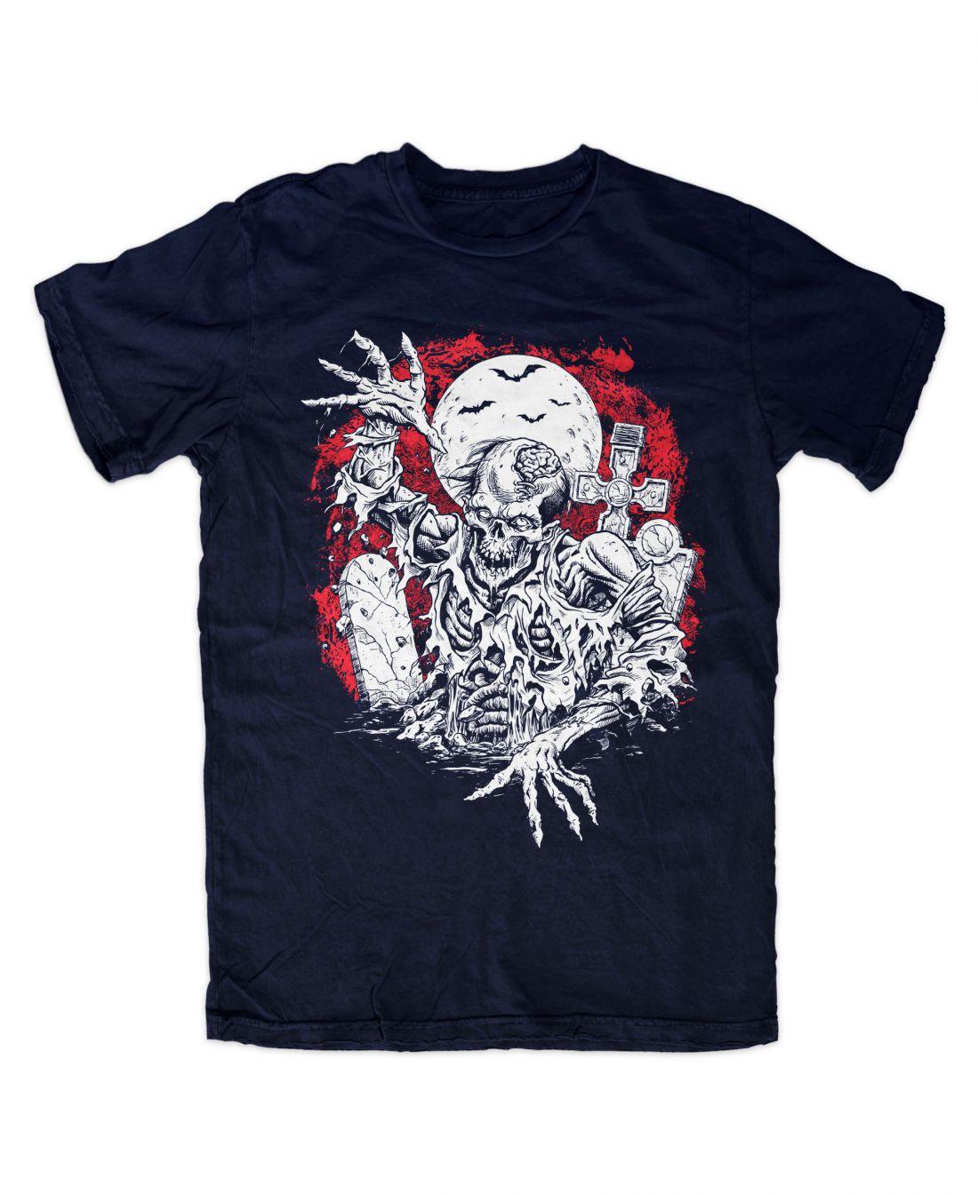 Rising Zombie (navy blue póló)