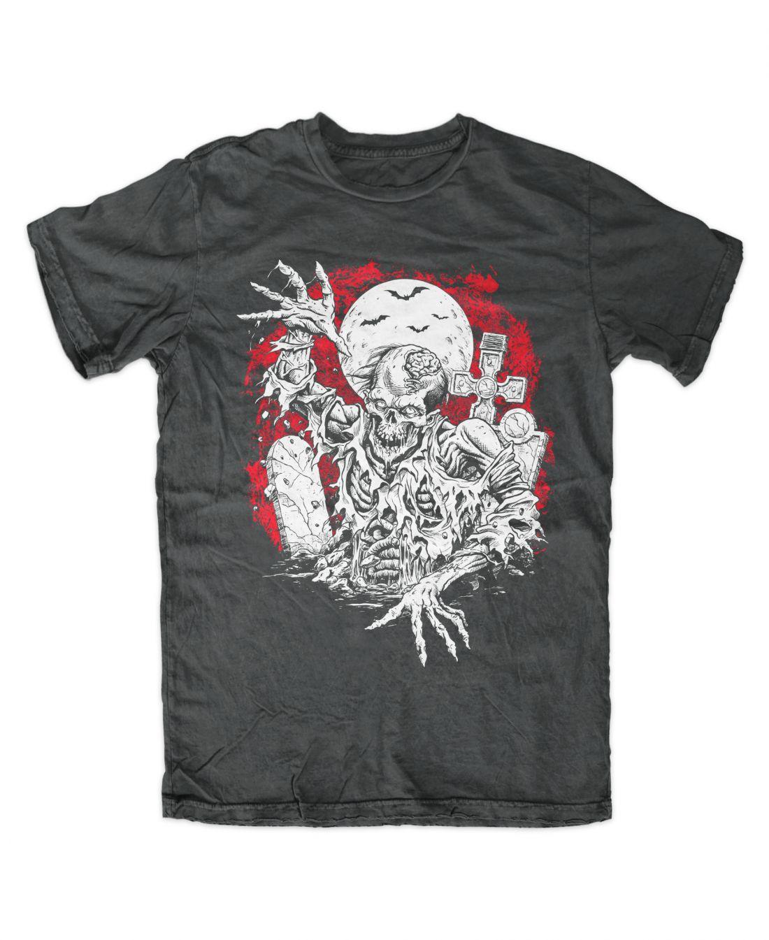 Rising Zombie (charcoal póló)