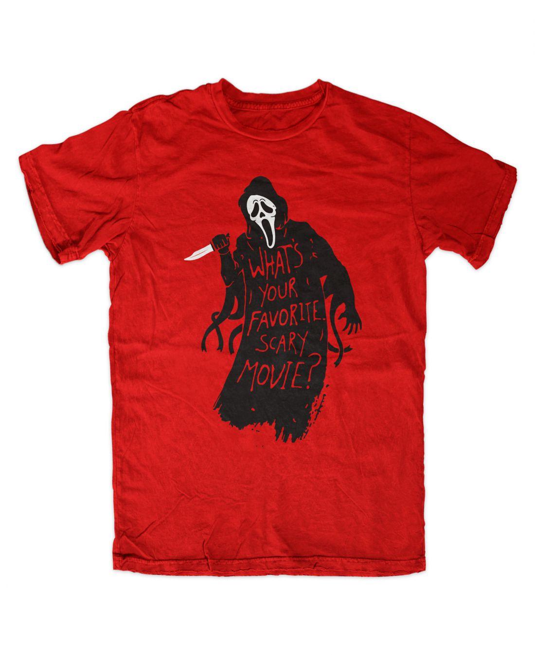 Favorite Scary Movie (piros póló)