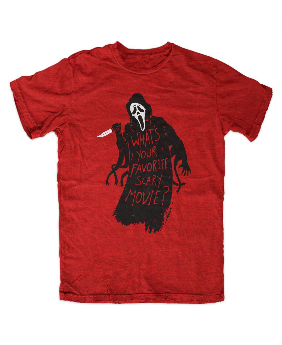 Favorite Scary Movie (antique red póló)