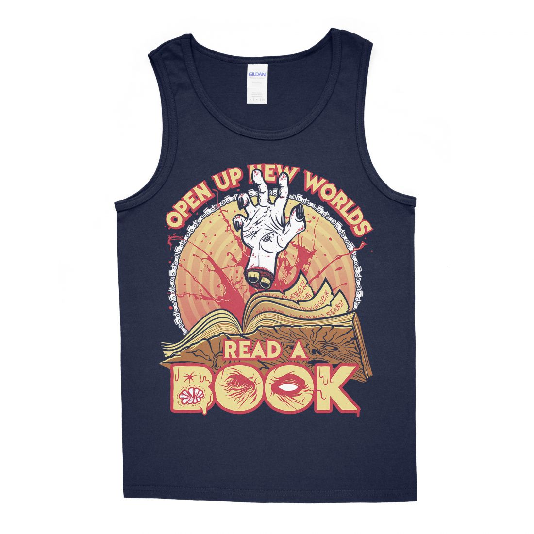 Read A Book (navy blue trikó)