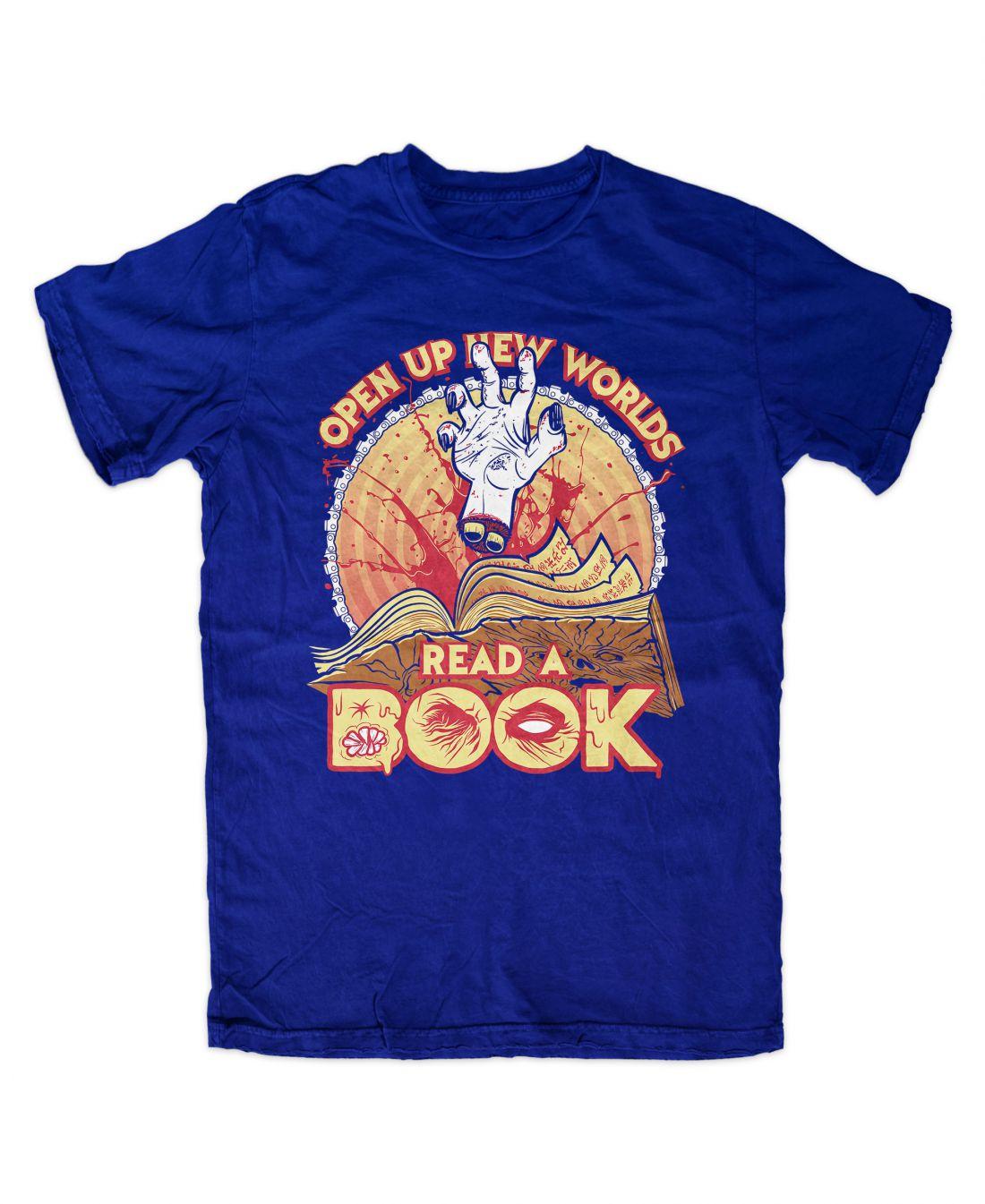 Read A Book (királykék póló)
